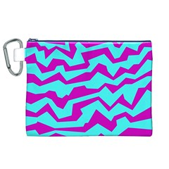 Polynoise Shock New Wave Canvas Cosmetic Bag (xl)