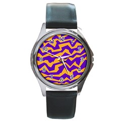 Polynoise Pumpkin Round Metal Watch