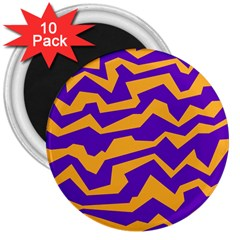 Polynoise Pumpkin 3  Magnets (10 Pack)