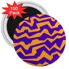 Polynoise Pumpkin 3  Magnets (100 Pack)