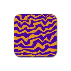 Polynoise Pumpkin Rubber Square Coaster (4 Pack)