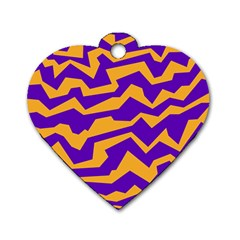 Polynoise Pumpkin Dog Tag Heart (one Side)