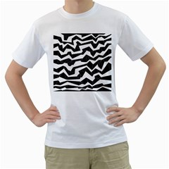 Polynoise Origami Men s T Shirt (white) (two Sided)