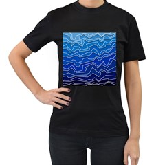 Polynoise Deep Layer Women s T Shirt (black) (two Sided)
