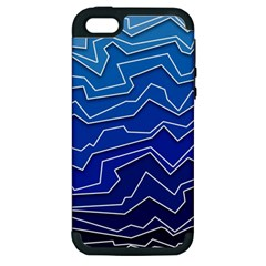 Polynoise Deep Layer Apple Iphone 5 Hardshell Case (pc+silicone)