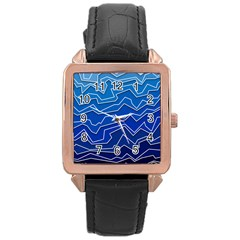 Polynoise Deep Layer Rose Gold Leather Watch