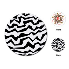 Polynoise Bw Playing Cards (round)