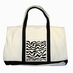 Polynoise Bw Two Tone Tote Bag
