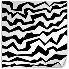 Polynoise Bw Canvas 16  X 16