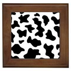 Animal Print Black And White Black Framed Tiles
