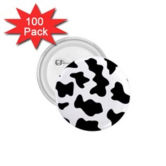 Animal Print Black And White Black 1 75  Buttons (100 Pack)