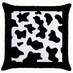 Animal Print Black And White Black Throw Pillow Case (black)