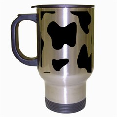 Animal Print Black And White Black Travel Mug (silver Gray)