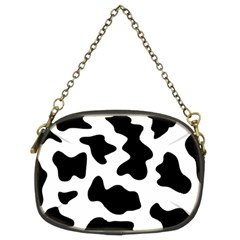 Animal Print Black And White Black Chain Purses (two Sides)