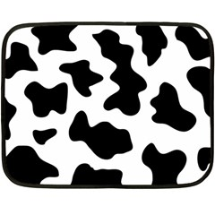 Animal Print Black And White Black Fleece Blanket (mini)