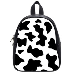 Animal Print Black And White Black School Bag (small)