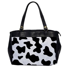 Animal Print Black And White Black Office Handbags