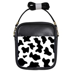 Animal Print Black And White Black Girls Sling Bags