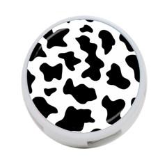 Animal Print Black And White Black 4 Port Usb Hub (two Sides)