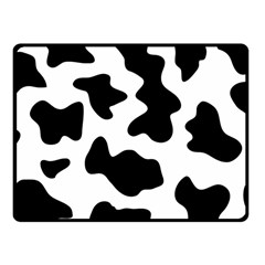Animal Print Black And White Black Fleece Blanket (small)