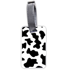 Animal Print Black And White Black Luggage Tags (one Side)