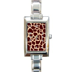Animal Print Girraf Patterns Rectangle Italian Charm Watch