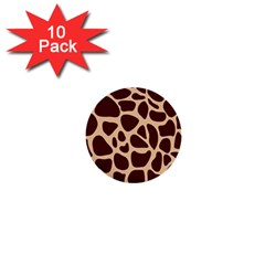 Animal Print Girraf Patterns 1  Mini Buttons (10 Pack)