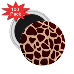 Animal Print Girraf Patterns 2 25  Magnets (100 Pack)
