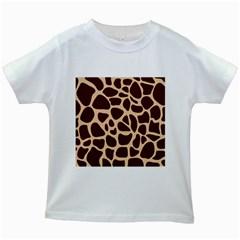 Animal Print Girraf Patterns Kids White T Shirts