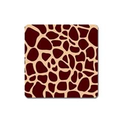 Animal Print Girraf Patterns Square Magnet