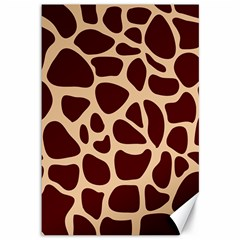 Animal Print Girraf Patterns Canvas 12  X 18