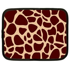 Animal Print Girraf Patterns Netbook Case (large)