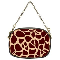 Animal Print Girraf Patterns Chain Purses (two Sides)