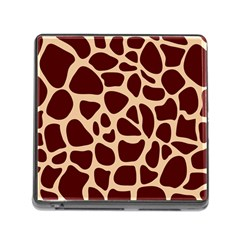 Animal Print Girraf Patterns Memory Card Reader (square)