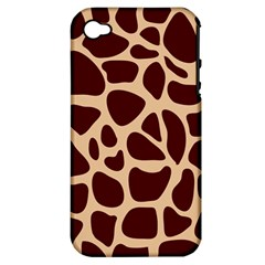 Animal Print Girraf Patterns Apple Iphone 4/4s Hardshell Case (pc+silicone)