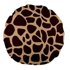 Animal Print Girraf Patterns Large 18  Premium Round Cushions