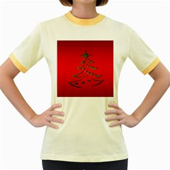 Christmas Women s Fitted Ringer T Shirts