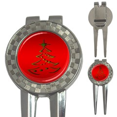 Christmas 3 In 1 Golf Divots