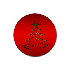 Christmas Rubber Coaster (round)