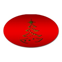 Christmas Oval Magnet