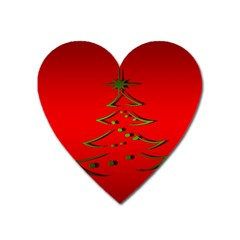 Christmas Heart Magnet