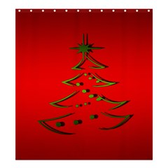Christmas Shower Curtain 66  X 72  (large)