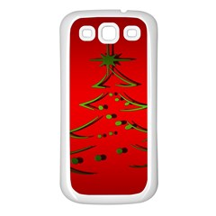 Christmas Samsung Galaxy S3 Back Case (white)