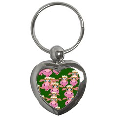 Seamless Tile Repeat Pattern Key Chains (heart)