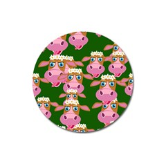 Seamless Tile Repeat Pattern Magnet 3  (round)