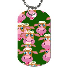 Seamless Tile Repeat Pattern Dog Tag (one Side)