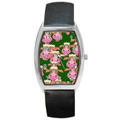 Seamless Tile Repeat Pattern Barrel Style Metal Watch