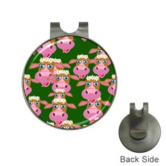 Seamless Tile Repeat Pattern Hat Clips With Golf Markers