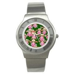 Seamless Tile Repeat Pattern Stainless Steel Watch