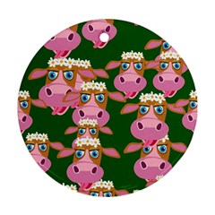 Seamless Tile Repeat Pattern Round Ornament (two Sides)